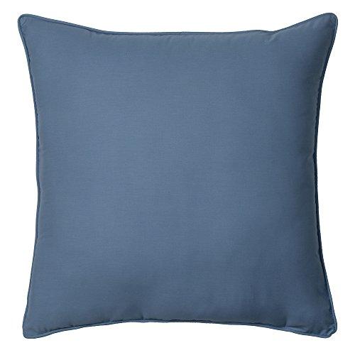 IZOD Chambray Stripe European Square Pillow, Euro 26x26, Blue