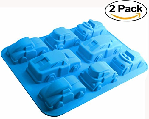 Car Chocolate Mold (Mini Skater Silicone Car Mold: Non-stick Baking, Chocolate, Ice, Muffins & Soap⎟oven-microwave-freezer-dishwasher Safe (Car)