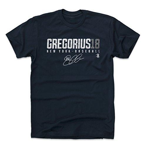 500 LEVEL Didi Gregorius Cotton Shirt Large True Navy - New York Baseball Men's Apparel - Didi Gregorius Gregorius18 W WHT