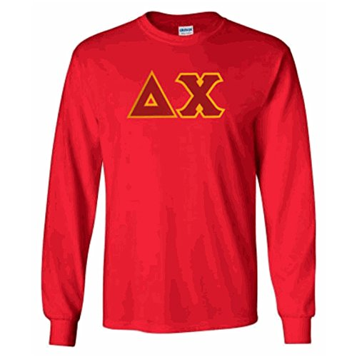 Delta Chi Lettered Long Sleeve 2X-Large Red