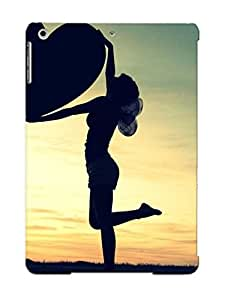 RcuwrkC3736mRDUF Special Design Back Girls Silhouette Holding A Heart Phone Case Cover For Ipad Air