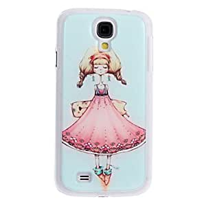 SUMCOM Girl in Beautiful Dress Pattern Hard Case for Samsung S4 I9500