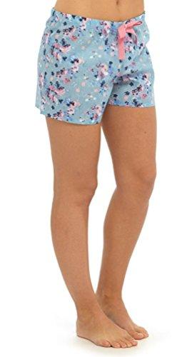 Tom Franks pantalones cortos de Mujer con Estampado Floral Azul