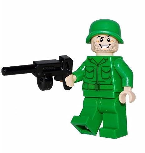LEGO Army Man Minifigure with Machine Gun
