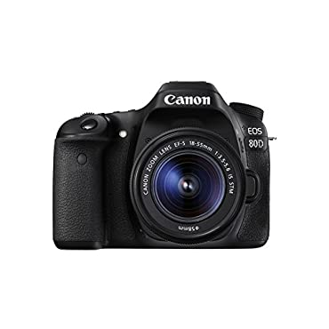 Canon EOS 80D Kit with EF-S 18-55mm f/3.5-5.6 IS STM Lens Digital SLR Camera