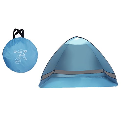 6-Person Dome Camping Tent (Blue) with FREE Solar LED Light - 1