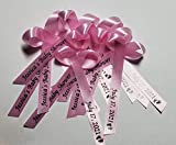 25 Personalized Baby Shower Ribbons for Party Favors or Baby Sprinkle, Fully Assembled - Custom Made