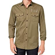 [Sponsored]Tommy Hilfiger Mens Small Utility Button Down Shirt