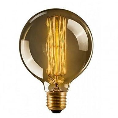 ST64 60W E27 Tear drop Vintage Edison Light Bulbs Retro Old Fashioned Style Screw Bulb Dimmable Decorative Spiral Filament Lamp E27 220-240V 60W Warm White Lights Uk
