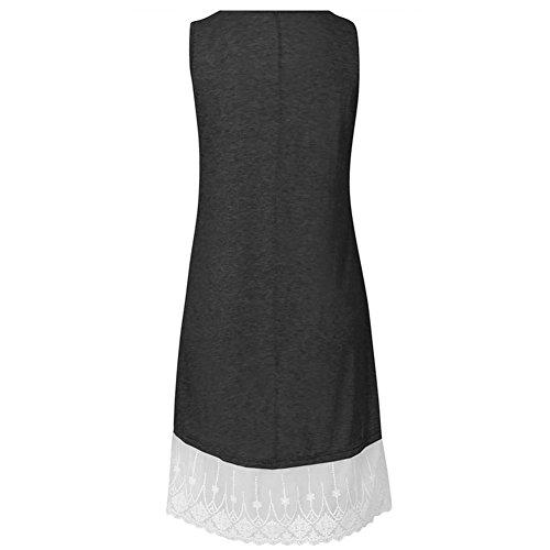 b136d92cf753c9 ... Damen A-linie Kleid Elegant kleider Casual T-Shirt Kleid Sommerkleider  Strandkleider Knielang Festlich ...
