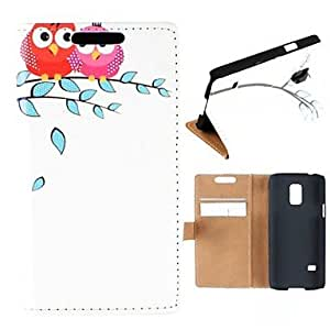 LZX The Bird In Spring Pattern High-Grade PU Leather Full Body Case with Card Slot for Samsung Galaxy S5 Mini G800