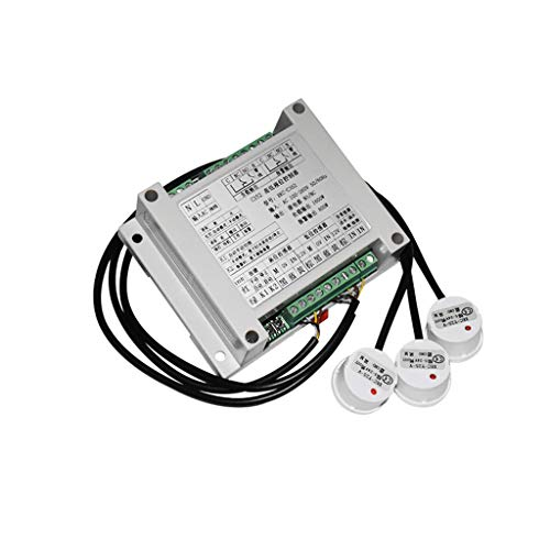 Taidacent Fully Automatic Water Level Controller Water Tank Automatic Filling System Water Pump Controller with Three Non Contact Water Level Sensors