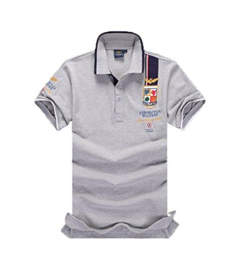 メンズ ポロシャツ 半袖 Tシャツカジュアル 紳士ポーツゴルフ刺繍無地 2018流行シャツ ゆったり リラックス 着やすい すぐ着れる らく 気持ち良い
