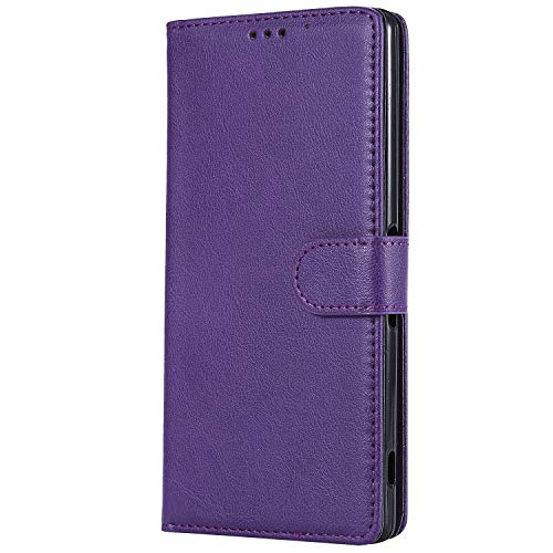 Sony Xperia XA Ultra Case, Lomogo Leather Wallet Case with Kickstand Card Holder Shockproof Flip Case Cover for Sony Xperia XA Ultra - LOKTU30494 Purple