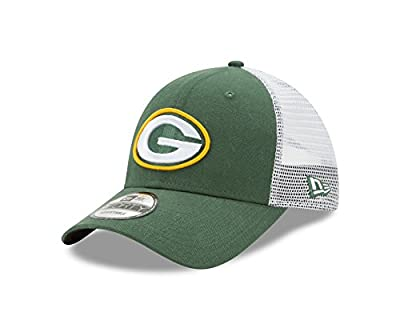 Green Bay Packers Trucker Duel New Era 9FORTY Adjustable Snapback Hat / Cap from New Era