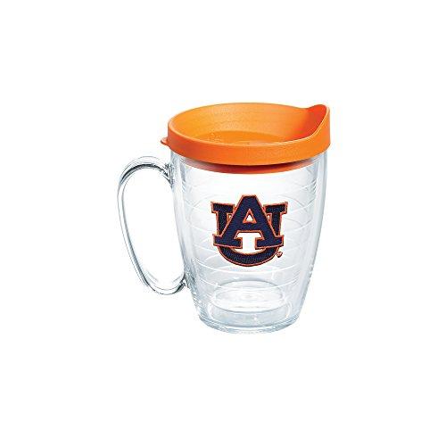 Tervis 1056775 Auburn Tigers Tumbler with Emblem and Orange Lid 16oz Mug, Clear - Tigers Tumbler Mug