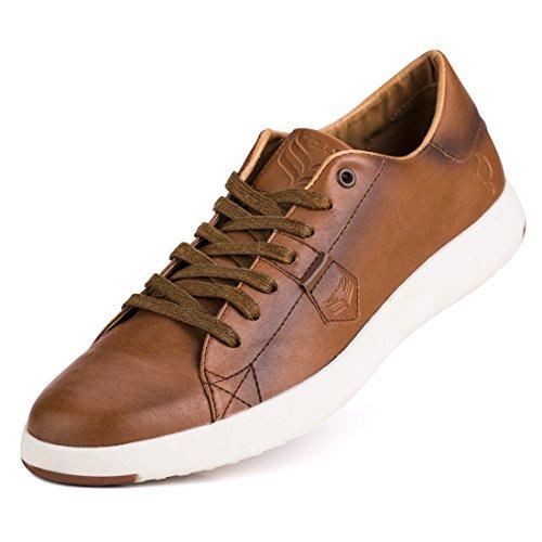 Jivana Men's Sneaker Casual Classic Shoes Lace-up Blue/Brown/White by Jivana