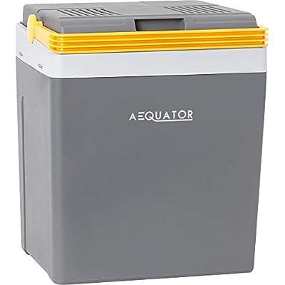 Aequator Tragbarer Kühlschrank, tragbare thermo-elektrische Kühlbox, 24 Liter, 12 V und 230 V für Auto…