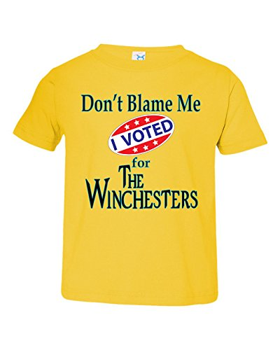Tenacitee Boy's Toddler Voted for The Winchesters T-Shirt, 3T, Yellow