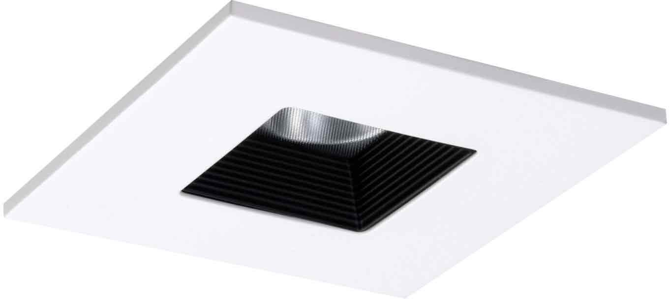 Halo recessed tls408whbb 4 inch led trim square with solite halo recessed tls408whbb 4 inch led trim square with solite regressed lens and black baffle white ring recessed light fixture trims amazon aloadofball