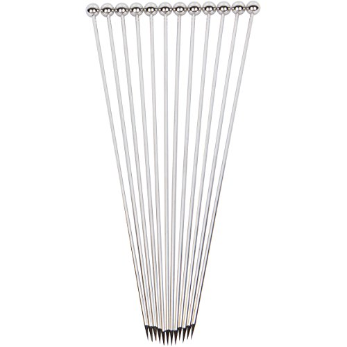 Stainless Steel Cocktail Picks - Extra long 8'' (Set of 12) by Top Shelf Bar Supply (Image #3)
