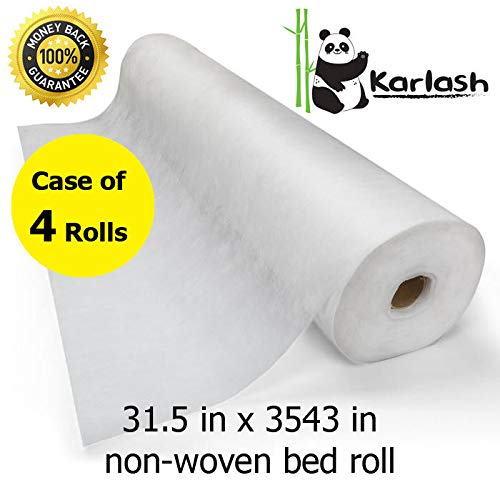 Karlash Disposable Non Woven Bed Sheet Roll Massage table paper roll 30gms Thick (Pack of 4) by Karlash