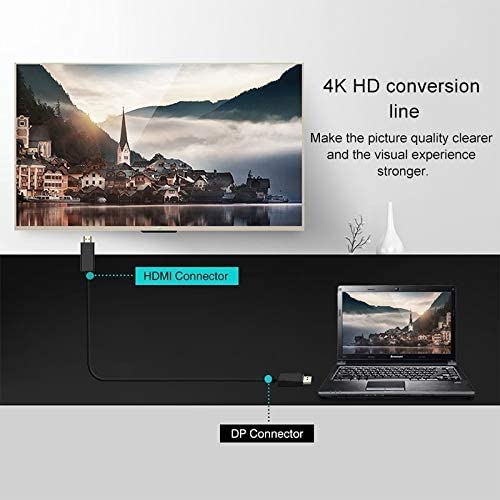 Cable Length 1.8m Color : Black 4K x 2K DP to HDMI Converter Cable
