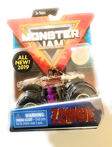 Monster Jam 2019 Crazy Creatures Zombie 1:64 Scale Diecast Truck With Figure and Poster by Spin Master ()