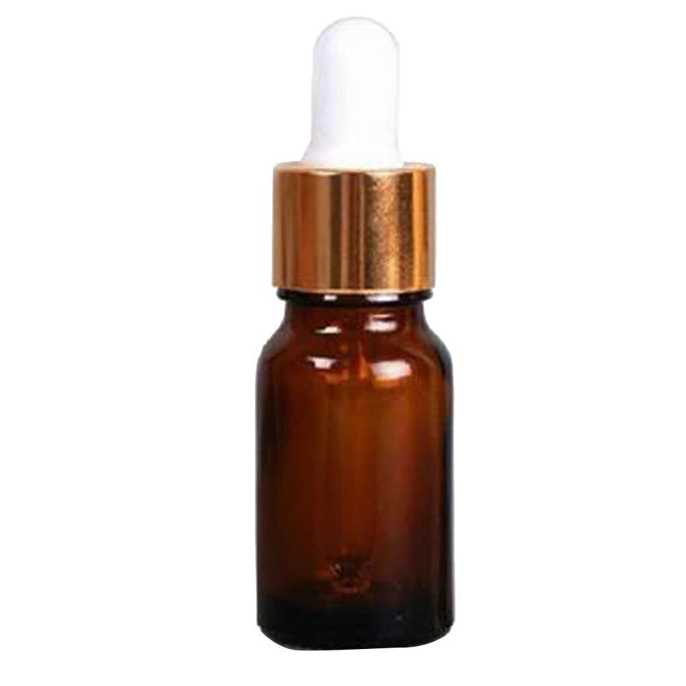 PU Ran - Mini flacons compte-gouttes vides en verre ambré - De 10 à 100 ml - Avec pipette