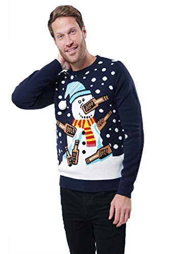 exquisite design professional promo codes Mens Christmas Jumper Xmas Novelty Sweater Santa Elf Knitwear Snowman  Threadbare