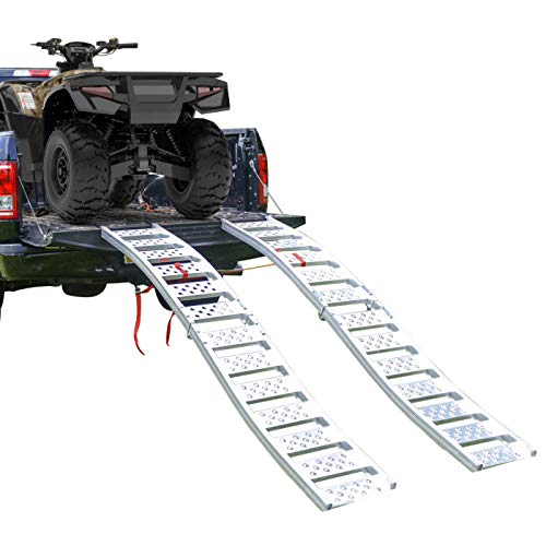 """Tru-Grip"" Dual Curved Aluminum Folding ATV/UTV Ramp"