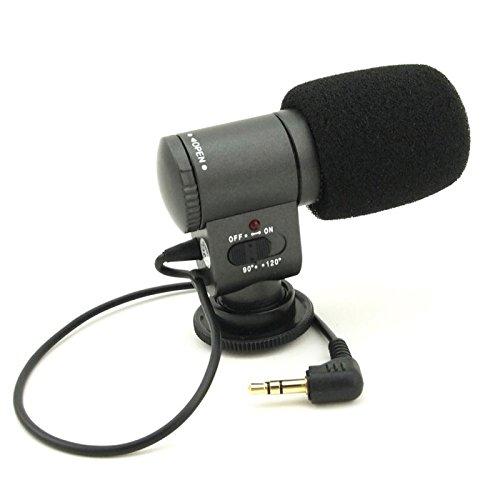 First2savvv SG-109 condenser shotgun stereo microphone mic fits any DV& DSLR camera with microphone hole and path -FUJIFILM X-T1 Olympus SP-100E FUJIFILM X-T1 Globe-Trotter Kit FinePix S1 S9400W S9200 S8600 Panasonic LUMIX DMC-GH4EB DMC-GH4HEB DMC-LZ40 PENTAX K-r K-30 K-5 II K-5 Iis K-500 K-50 K-3 X5 645D 645 Z K-S1 Canon PowerShot SX530 HS EOS 1100D EOS 500D EOS 550D EOS 600D EOS 60D EOS 7D EOS 5D Mark II EOS-1D X EOS-1D