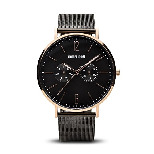 BERING Time 14240-166 Men Classic Collection Watch with Stainless-Steel Strap and scratch resistent sapphire crystal. Designed in Denmark