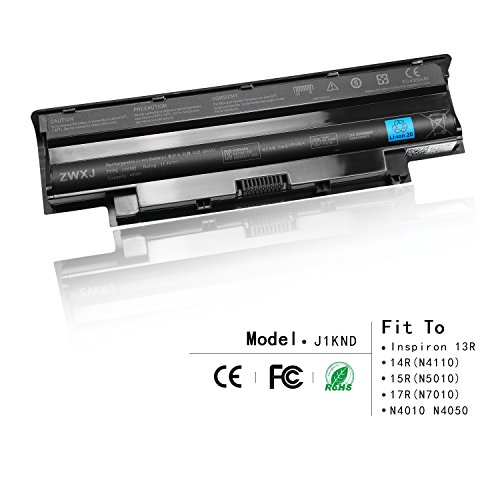 ZWXJ Laptop Battery Type J1KND (6-cell 11.1V 48Wh ) for DELL Inspiron 13R 14R(N4110) 15R(N5010) 17R(N7010) N4010 N5010 M5010 N4110 N4050 J1KND 9T48V