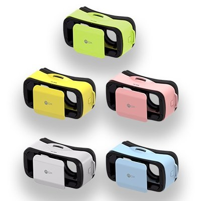 Virtual Reality Headsets for Smartphones (White, Blue, Pink, Yellow, Green) (White) ROX