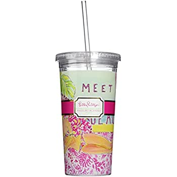 Amazon Com Lilly Pulitzer Tumbler With Straw Meet Me At