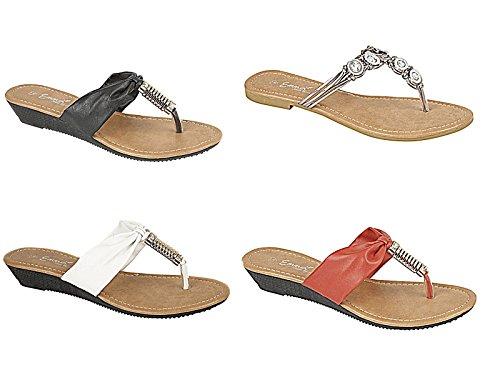Footwear à Foster femme fille l'arrière Ouvertes red dqxFUC