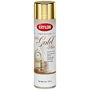 how to use gold acrylic spray paint