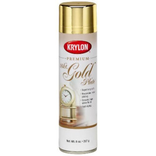 Krylon K01000a07 Premium Metallic Spray Paint Gold