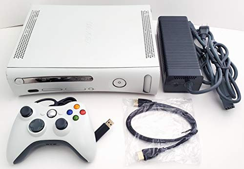 Microsoft Xbox 360 4GB Matte White Video Game Console System Bundle with Wired Controller (Renewed)