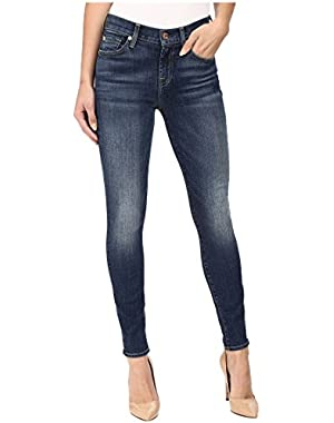 7 For All Mankind Women's The Ankle Skinny w/ Distress in