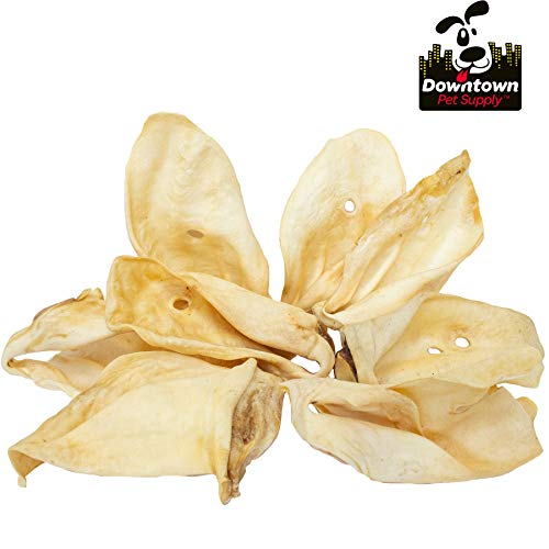Downtown Pet Supply All Natural Jumbo Cow Ears for Dogs, Healthy Dog Treats Dental and Training Chews – Available in Bulk (5 Pack)