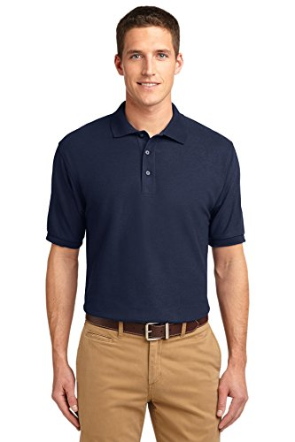 Port Authority K500 Silk Touch Polo - Navy - XX-Large