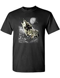 WOLF WINDERNESS - Mens Cotton T-Shirt