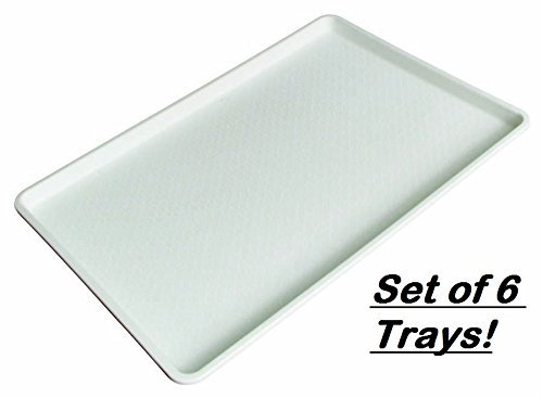 Winco - Plastic Tray White, (18 by 26 Inch) (Set of 6)