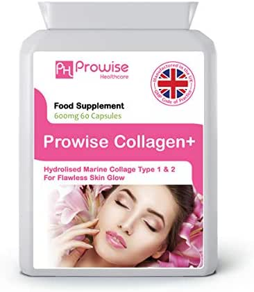 Marine Collagen Type 1 and Type 2 600mg - 60 Capsules - – UK Manufactured to GMP Guaranteed Quality by Prowise Healthcare
