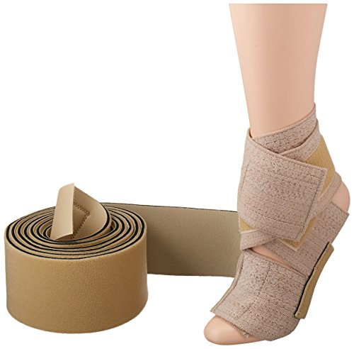 Rolyan Lower Extremity TAP Splint, Tone and Positioning Band for Correcting Gaits, Hypotonicity, Hypertonicity, Lower Body Weakness, MS, or Paralysis, Adult D, Invert Left Foot, Evert Right Foot ()