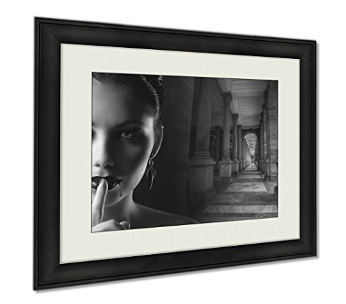 Ashley Framed Prints Sexy Female Vampire, Wall Art Home Decoration, Black/White, 34x40 (frame size), AG5400928 by Ashley Framed Prints