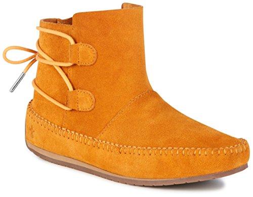 EMU Australia Womens Casual Boots Burnie Cow Suede Mustard cmia19EAfu