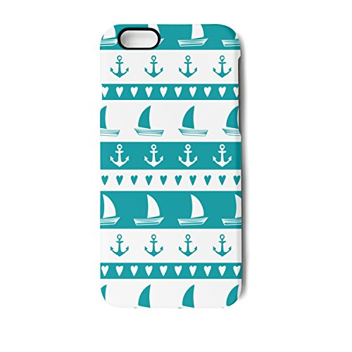 (SJSNBZ Anchor Sailboat Hear Iphone7 plus iphone8 plus Cool Funny TPU Matte Case Back Cover Shock Absorption-proof Full-protection Anti-fall Anti-Scratch Anti Finger Print Non Slip)